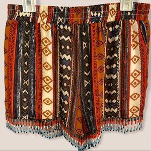 Size small beaded fringe shorts.